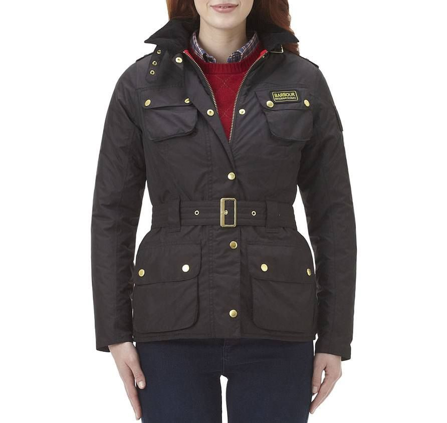 Barbour international bimota quilted parka coat