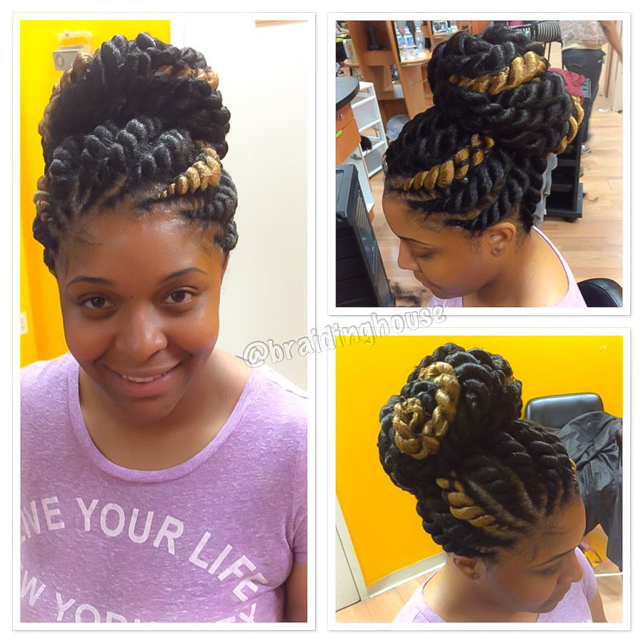 Jumbo Flat Twists/Corntwists by @braidinghouse | BRAIDS ...