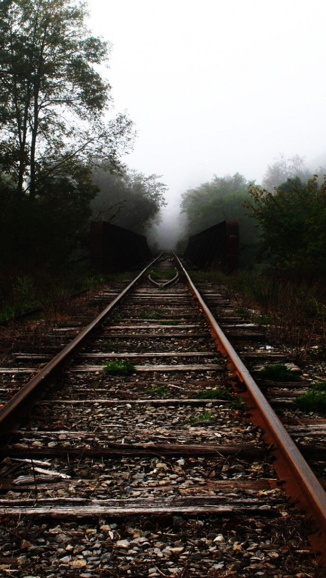 Sad Boy Girl Hd Wallpapers Trees Railroad Tracks Iphone 5s Wallpaper Iphone 5 Se