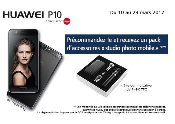 Smartphone Huawei P10 64 Go pas cher prix prix FNAC 599.00 € TTC. Offre de précommande : Un pack accessoires offert d'une valeur de 149€ remboursés par Huawei