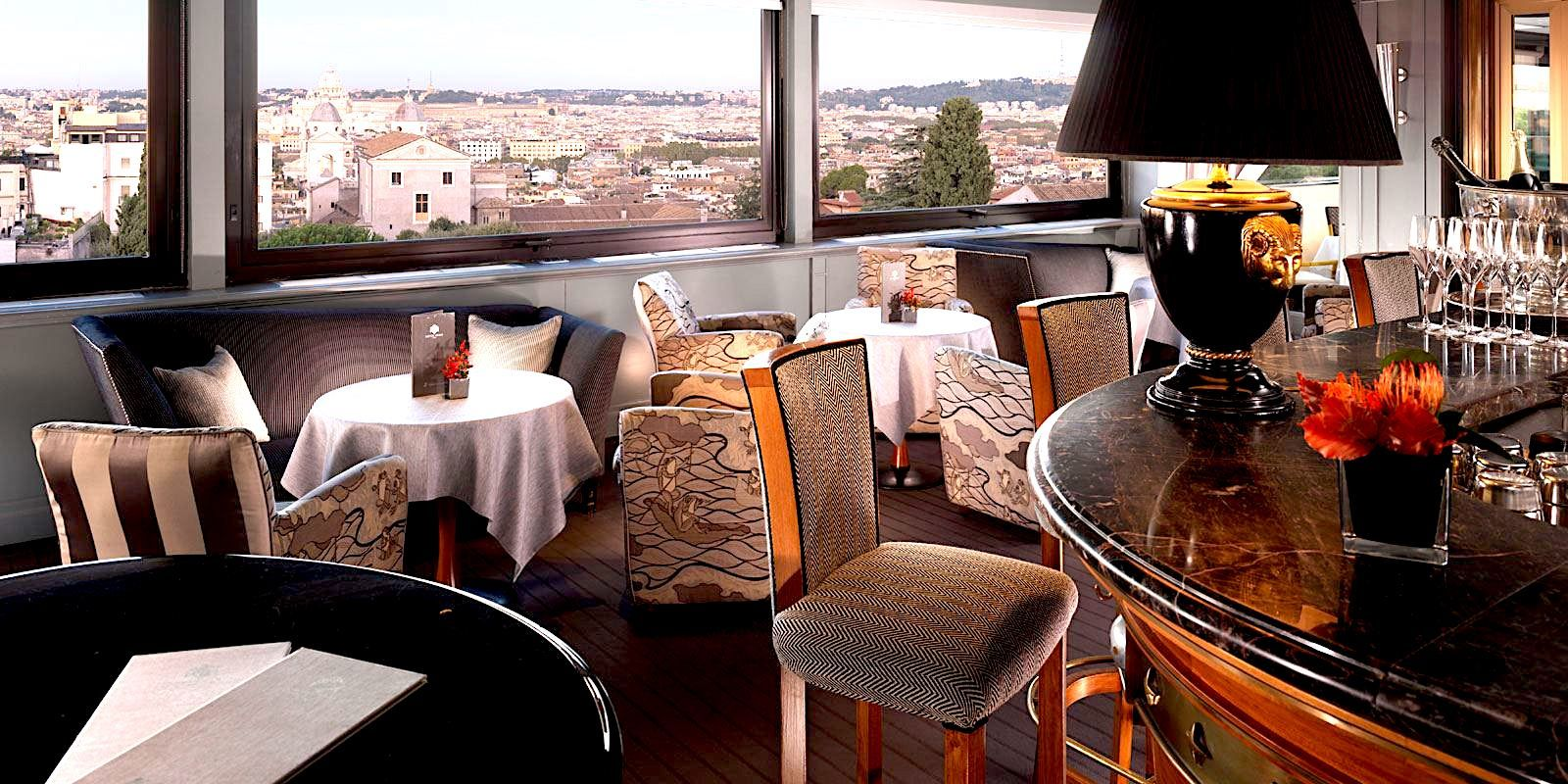10 Panoramic Restaurants In Rome Rome Rooftop Restaurant