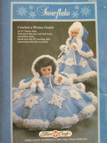 Snowflake Doll Dress Pattern C1989 Dolls Pinterest Dress