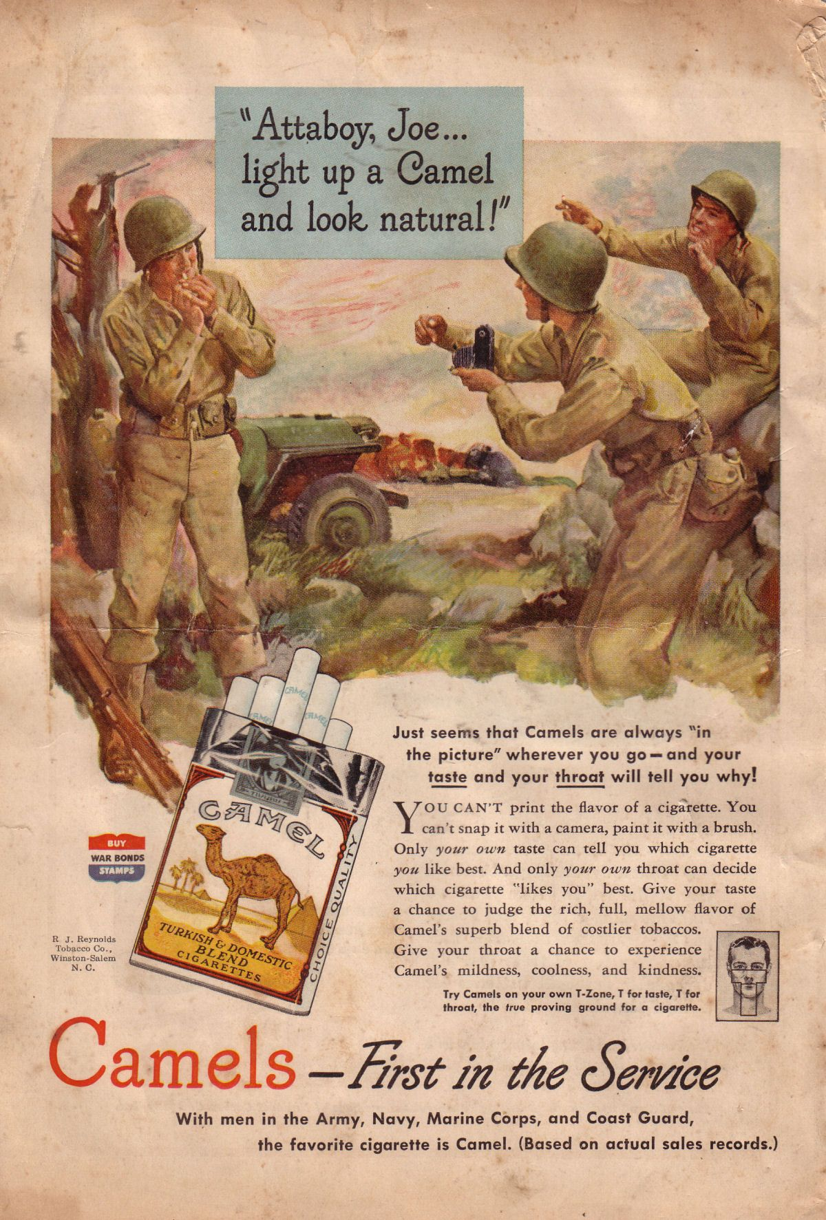 Camel cigarettes 1940's ad. | Vintage Advertising ...