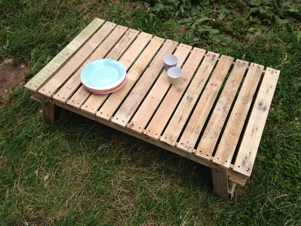 garden furniture made from pallets reclaimed folding garden table made reclaimed pallet timber furniture
