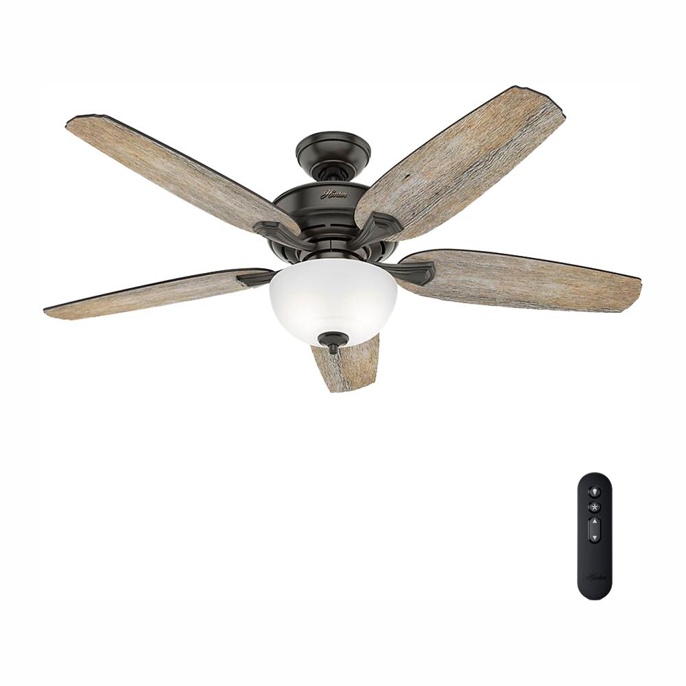 Hunter Channing 54 In Led Indoor Easy Install Noble Bronze Ceiling Fan With Hunterexpress Feature Set 53366 The Home Depot Bronze Ceiling Fan Hunter Ceiling Fans Ceiling Fan With Remote