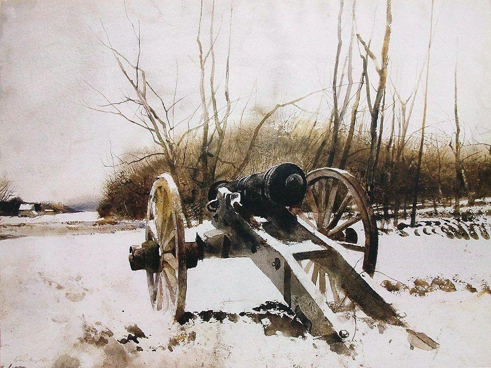 Andrew wyeth 1917 2009 usa gunsight 1974 watercolor