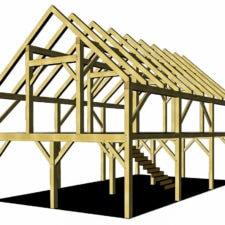 24x36 Heavy Timber Barn Plan
