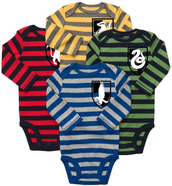 Custom Made Hogwarts House Crest Baby Onesie by BrileyStudios