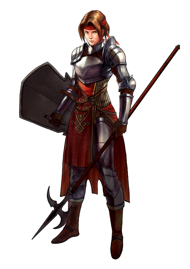 D D Character Design : Female human spear shield fighter pathfinder pfrpg dnd d