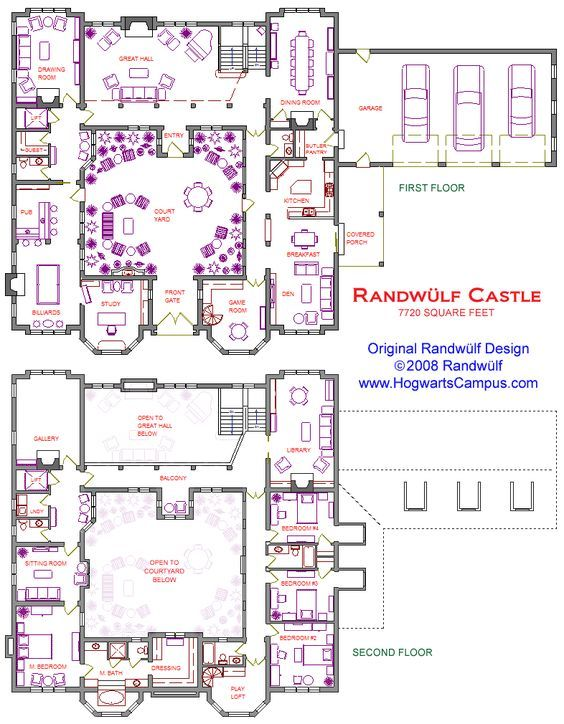 2 Story Castle With Courtyard Castle Floor Plan Castle House Plans Mansion Floor Plan