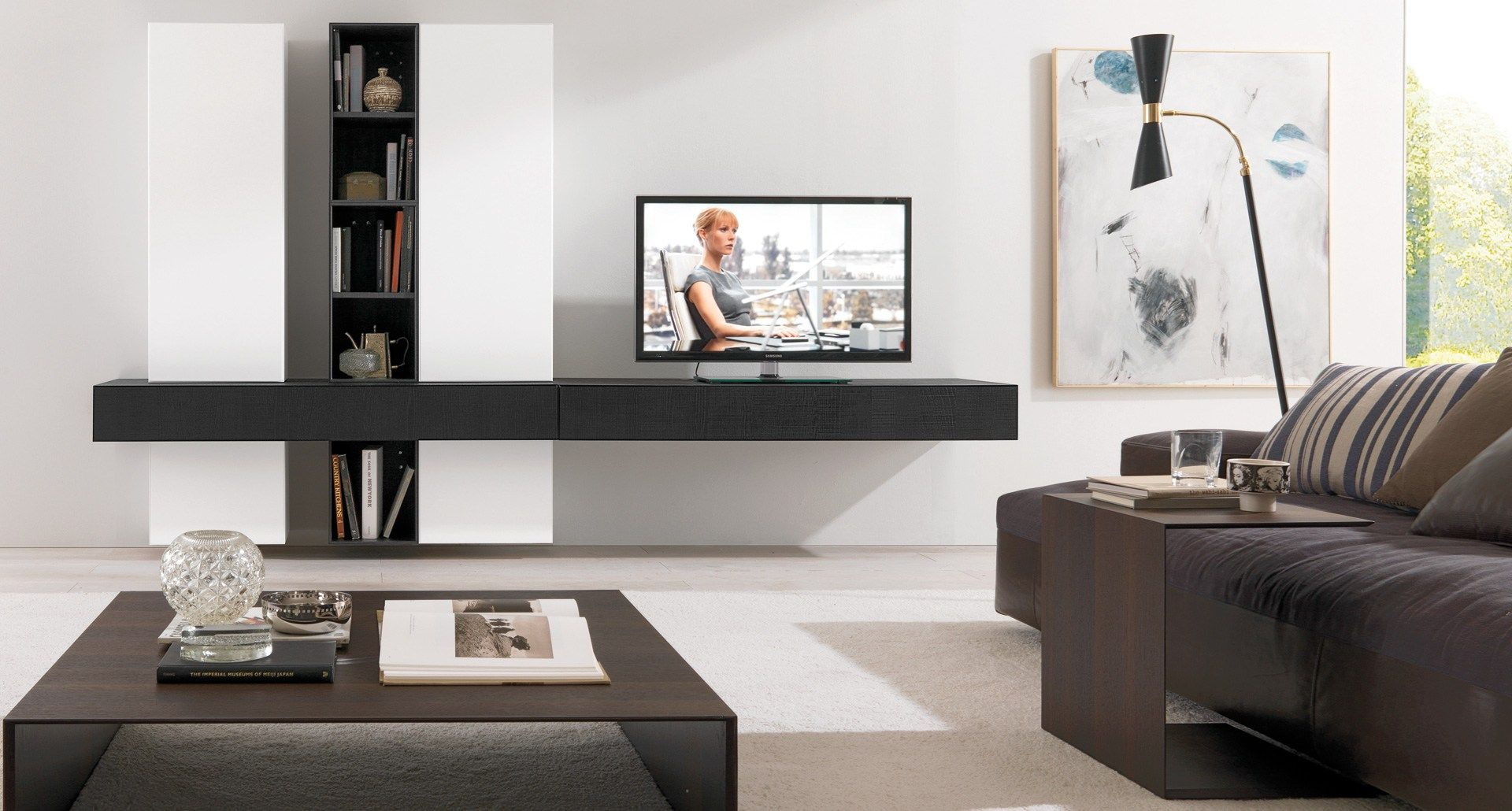 WOODEN TV CABINET / WALL CABINET CUBODIECI + E45 BY EUROMOBIL ...