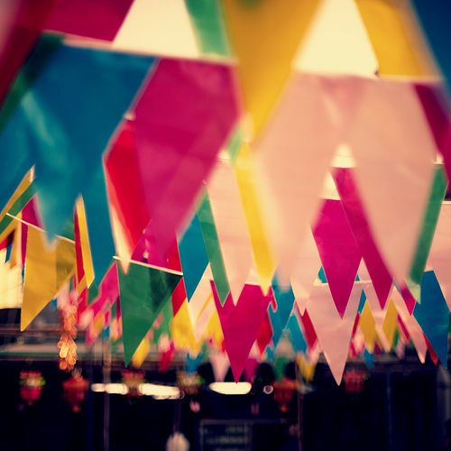 We are like bunting.... individually pretty uninspiring but together.... gorgeous! :)