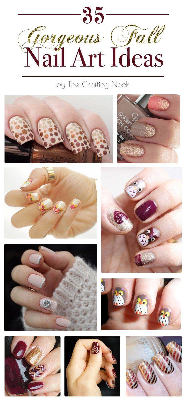 35 Gorgeous Fall Nail Art Ideas #fallnailart #nailart # naildesigns