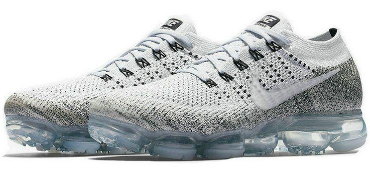 97a0498c01c6a 2018 Discount Nike Air Vapormax Flyknit Pale Grey Sail Black 899473 002  Sneaker