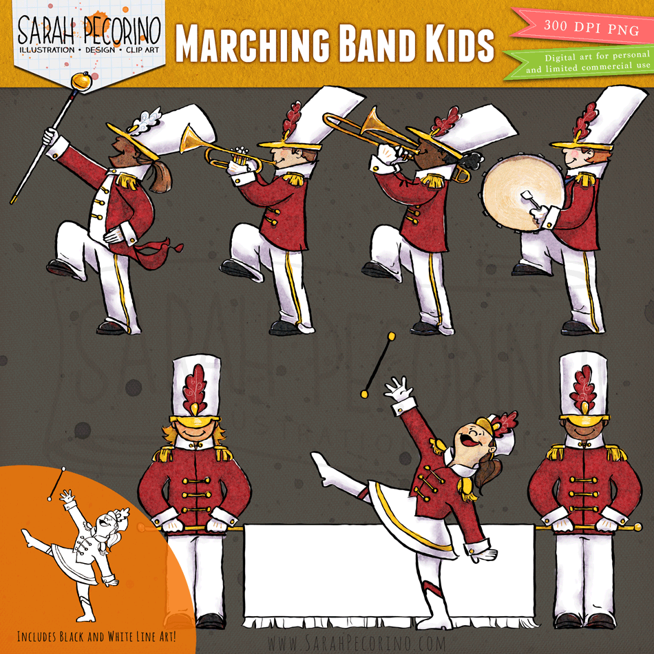 Marching Band Kids Clip Art Marching Band Kids Clipart Band Kid