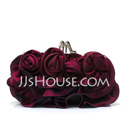 Handbags - $12.99 - Charming Satin With Flower Clutches (012026225) http://jjshouse.com/Charming-Satin-With-Flower-Clutches-012026225-g26225