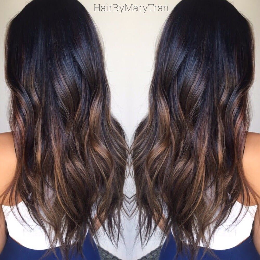 Photo Of Mare La Santa Monica Ca United States Chocolate Subtle Ombre And Blended Haircut On Asian Hair Cabelo Morenas Cabelo Penteado Cabelo Comprido