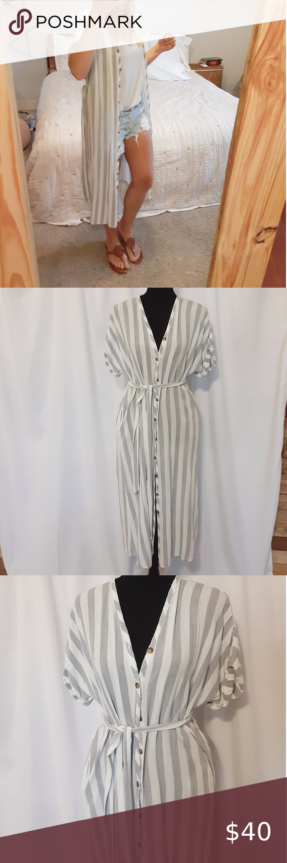 Boardwalk Midi Boutique Dress Worn twice, perfect condition. Bought from Jewel Boutique button front