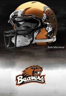 Oregon State University Beavers - concept football helmet