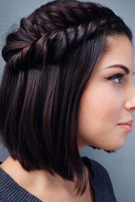 18 Leichte Zöpfe für kurzes Haar | Geflochtenes Schwarzes Haar # Kurzhaar #Zöpfe #Frisur, #Schwarz …