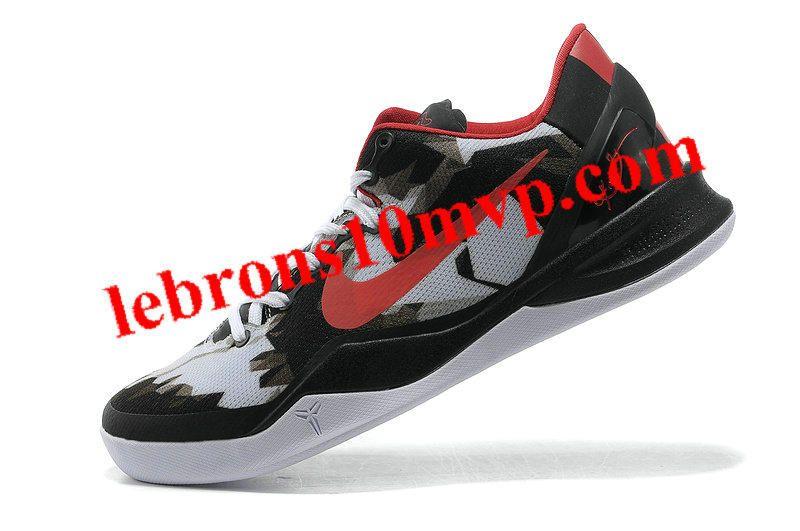 09adf7202d4 Kobe 8 System USA Pure Platinum Red Black