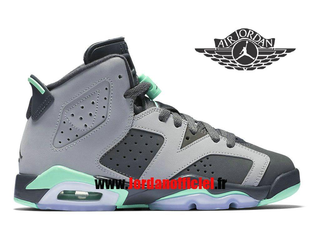 081904bd847a9d Air Jordan 6 GS - Chaussures Baskets Offciel Pas Cher Pour Homme Lueur verte  543390-