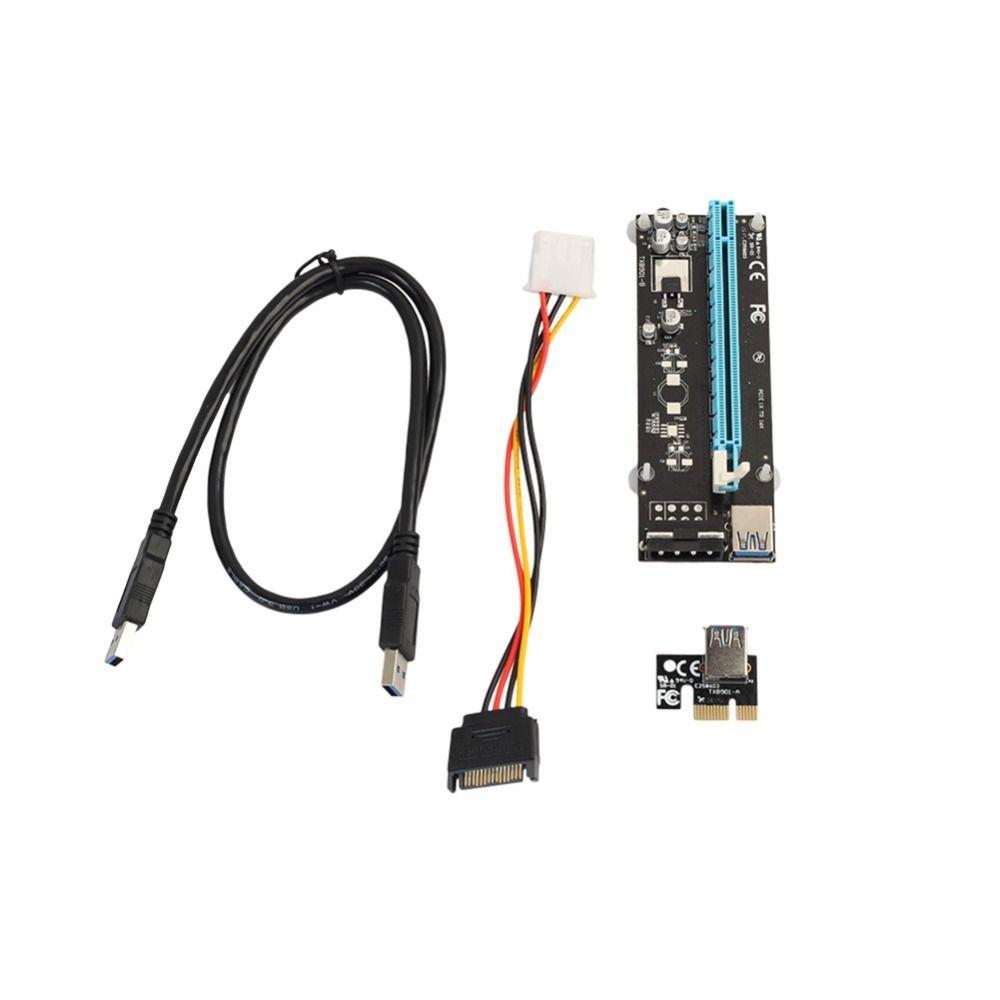 Right Interface Pci E Express Riser Card 1x To 16x Usb 30 Data Vga Cable