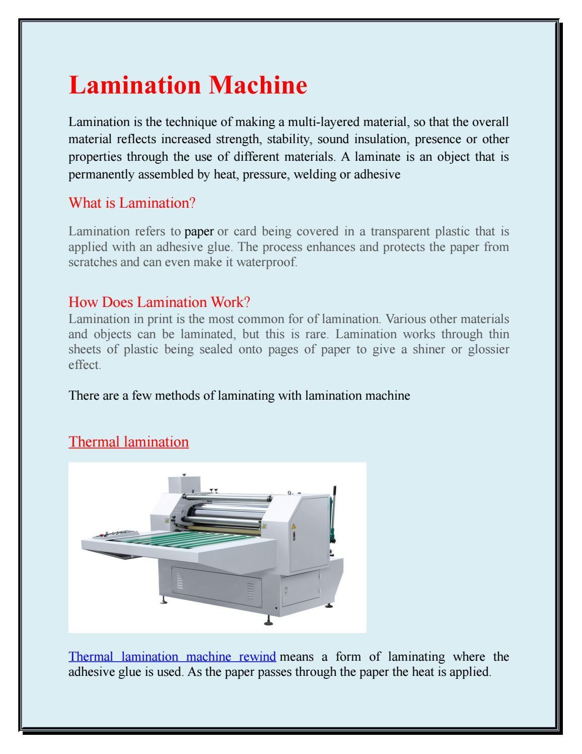 Lamination Machine Sound Insulation Machine Engineering Works