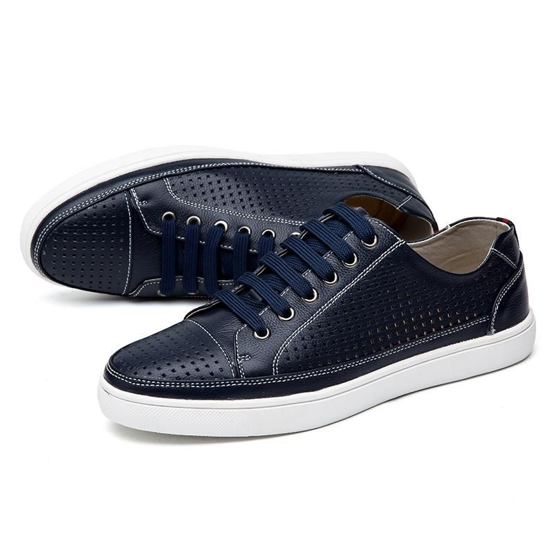 Men s Lace-Up Leather Casual Shoes  492579172