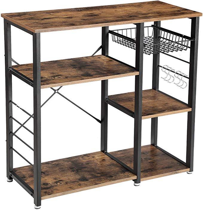 Amazon Com Vasagle Industrial Kitchen Baker S Rack Coffee Bar
