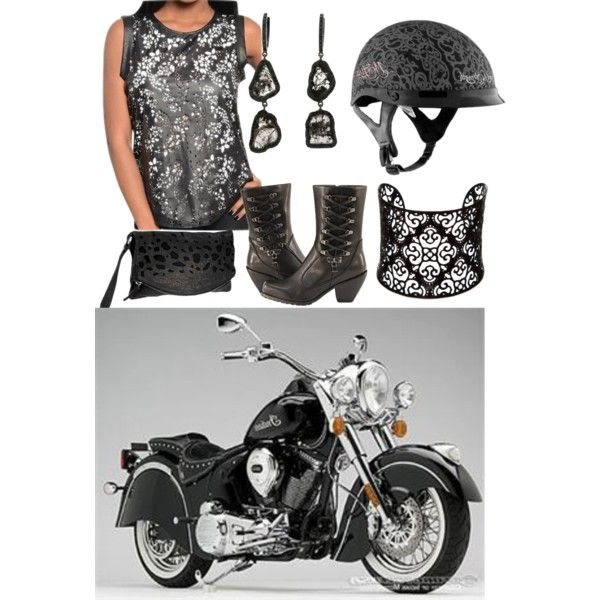 """Laser Cut & Arabesque"" by suziq-lthrs on PolyvoreFor more Biker Outfits, Checkout My Outfits! Hugz from SuziQLeathers"