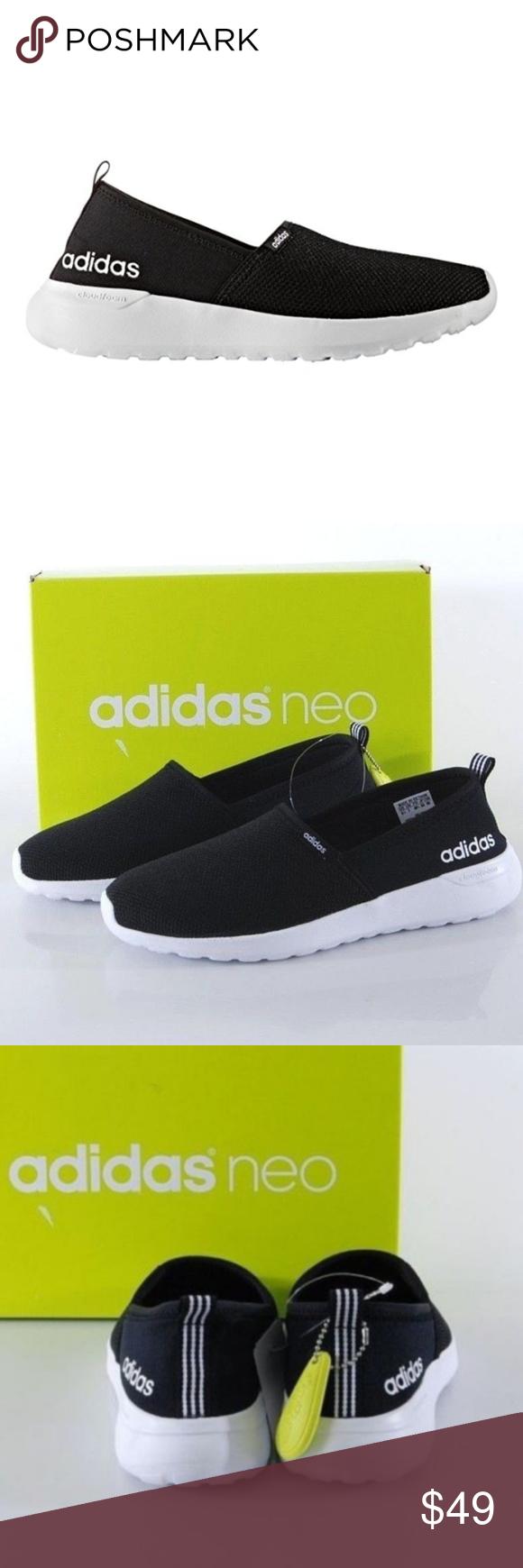 ADIDAS Slip On CloudFoam Neo Lite Racer Shoes New Without Box fd7ff7a25