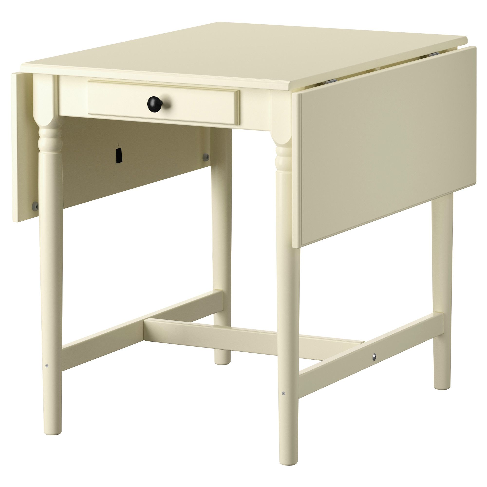 Ingatorp Drop Leaf Table White 23 143546 18x30 34 Ikea