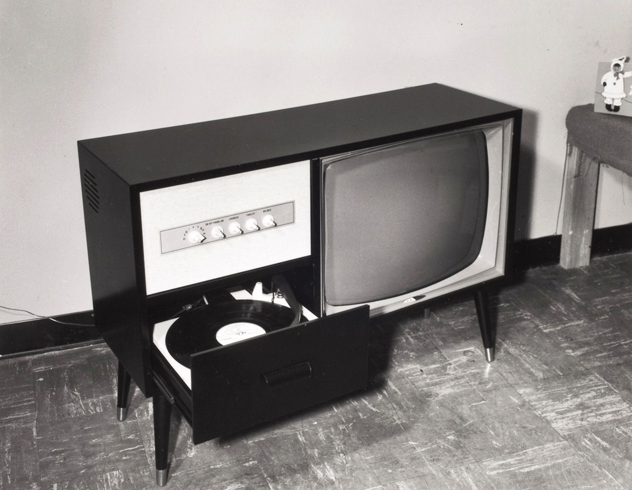 1966 TV + Record Player
