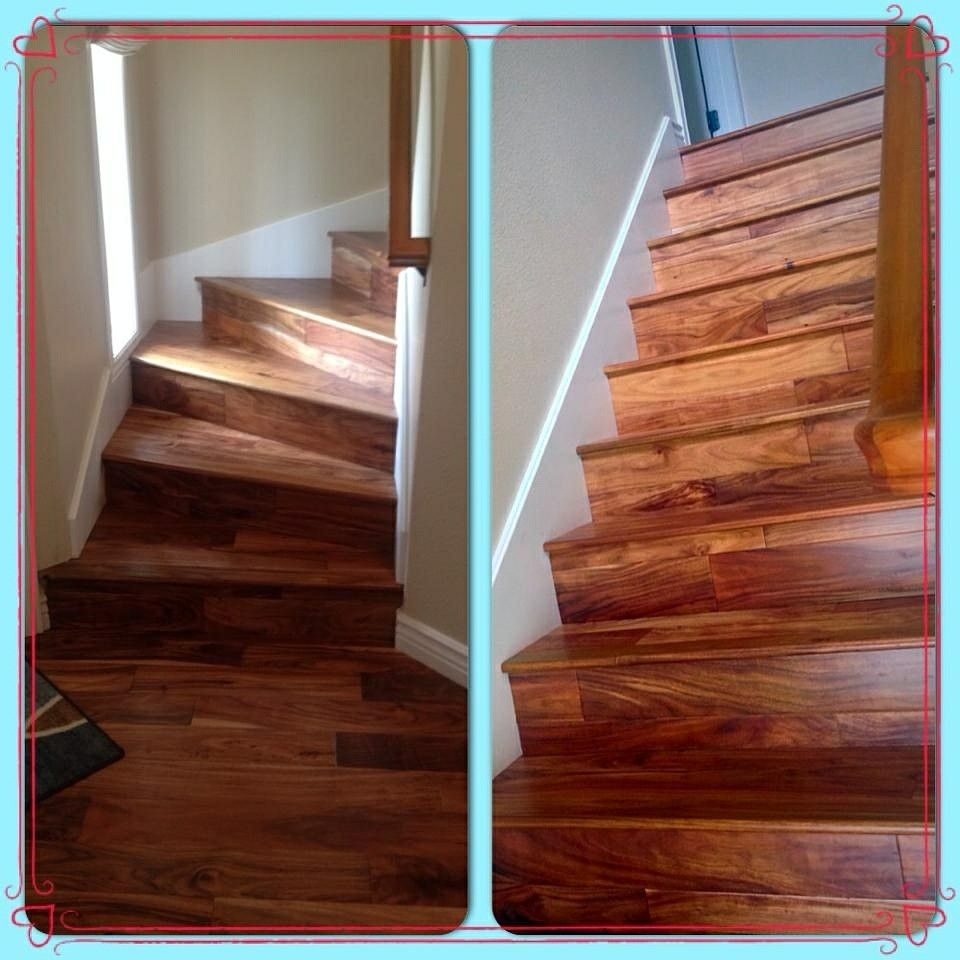 Best Acacia Hardwood Stair Case Capell Flooring Hardwood 640 x 480