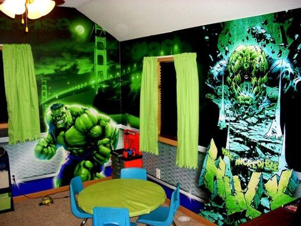 An Incredible Hulk Room My son loves the Incredible Hulk We