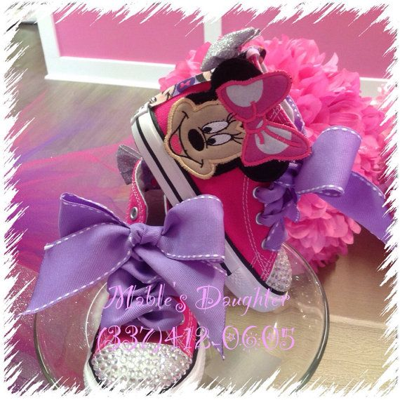 Minnie Mouse Bling Converse by MablesD on Etsy   PaItYn in