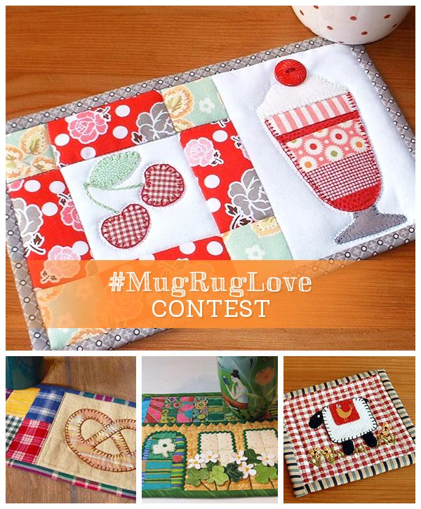 Announcing Craftsy's #MugRugLove Contest. Share your handmade mini quilts for a chance to Win an online Craftsy class of your choice!