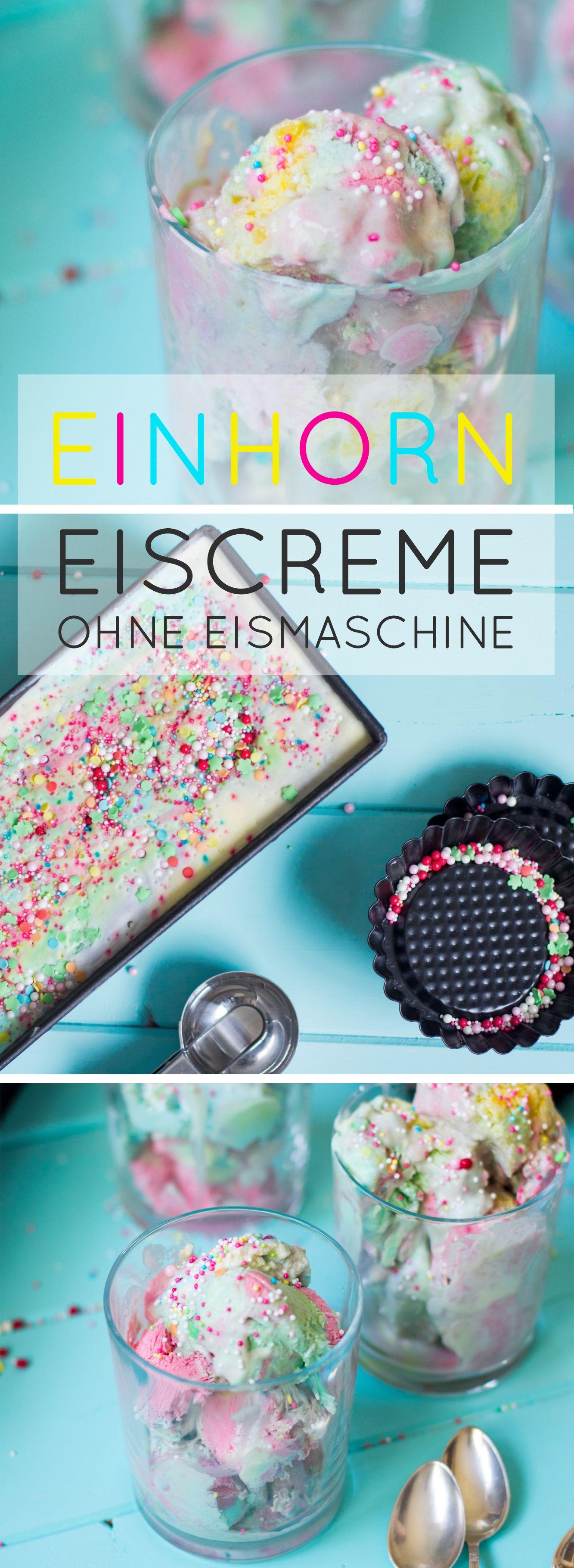 Einhorn / Regenbogen Eiscreme ohne Eismaschine