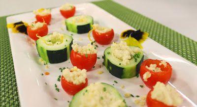 cosine macro&biotiche: PIATTOFORTE :  Pomodorini cherry e cubi di cetriol...