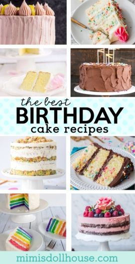 55 Delicious Birthday Cake Recipes #easychocolatecake