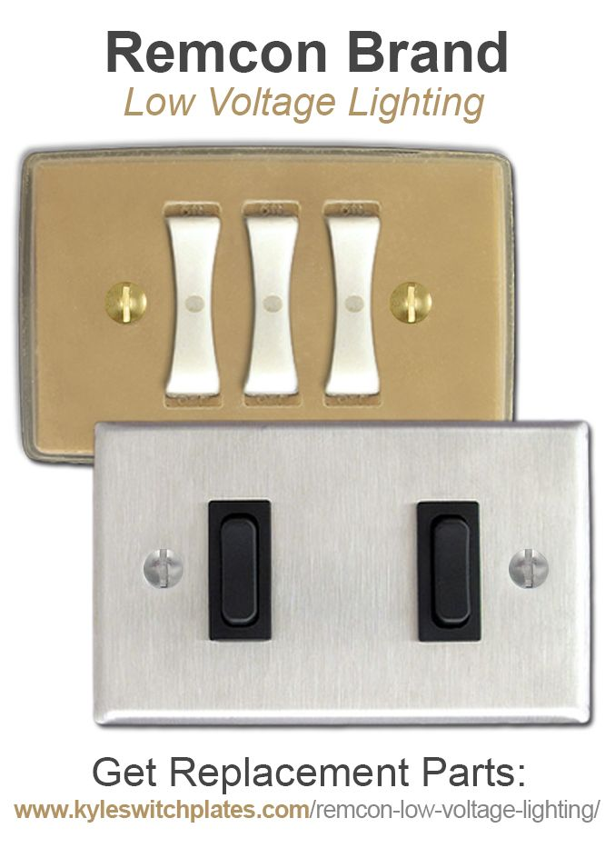 Low Voltage Light Switch : voltage, light, switch, Remcon, Voltage, Switches,, Relays,, Switch, Plates, Replacement, Parts, Lighting, Parts,, Lighting,, Landscape