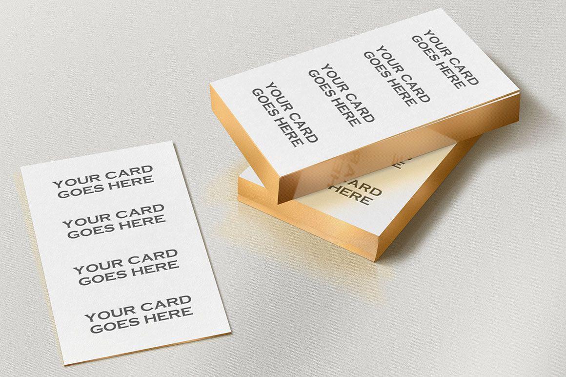 Free Gold Edge Letterpress Bc Mock Up Business Card Mock Up