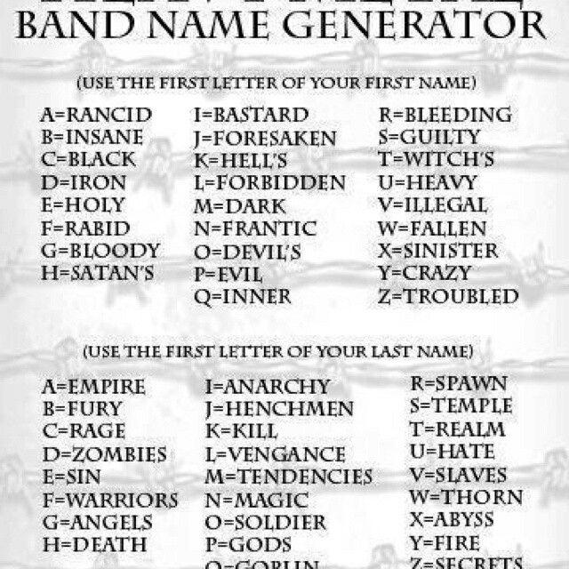The Bleeding Empire Insane Warriors Funny Name Generator Funny Names Band Name Generator