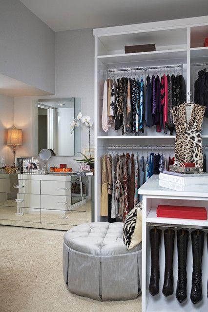 O armário projeto moderno Glam moderna