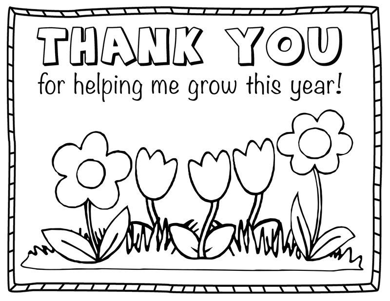 Thank You Colouring Sheet For Kids Flower Teacher Appreciation Quotes,  Teacher Appreciation Printables, Teacher Appreciation Cards