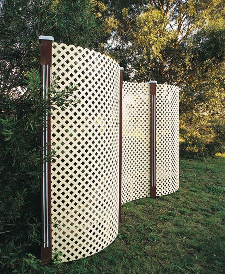 lattice in garden EcoScreen Plastic Lattice is perfect