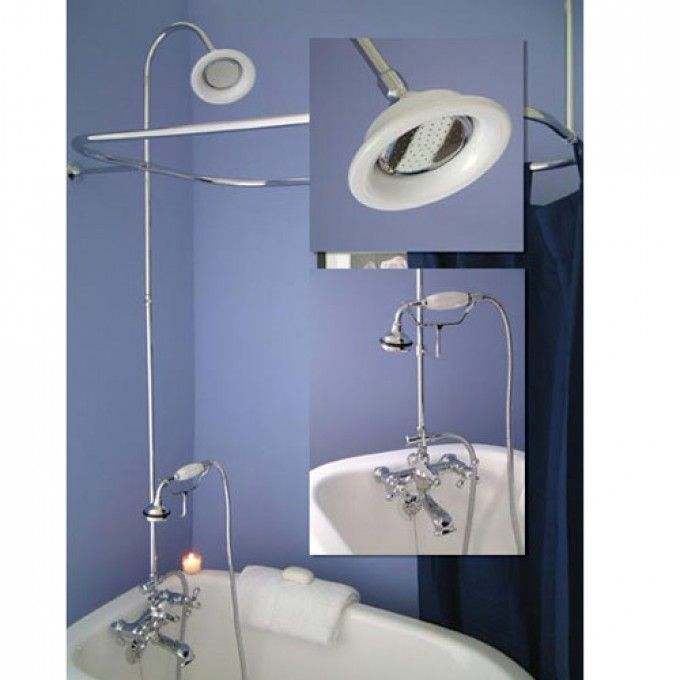 British Telephone Shower Conversion Kit Clawfoot Tub Shower