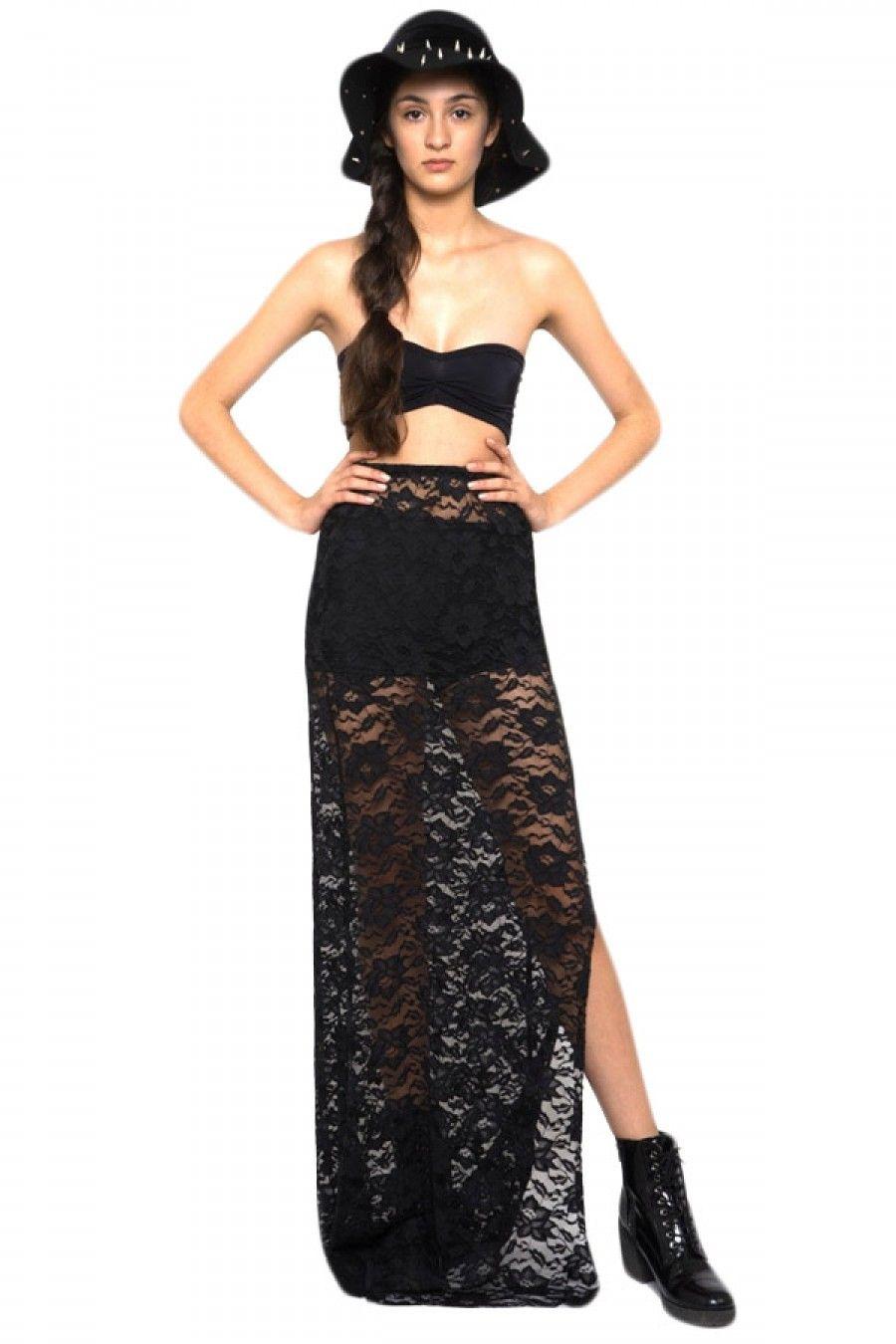 Women's Lace Maxi Skirt