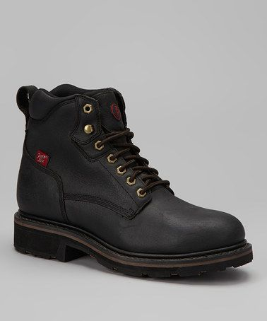 Take a look at this Black Grizzly Waterproof Boot - Men by Tony Lama on #zulily today!